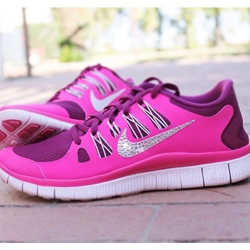 Bedazzled Nike Running shoes. MUST HAVE  d15aeb92c1c6