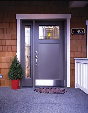 Awesome White Entry Doors with Sidelights