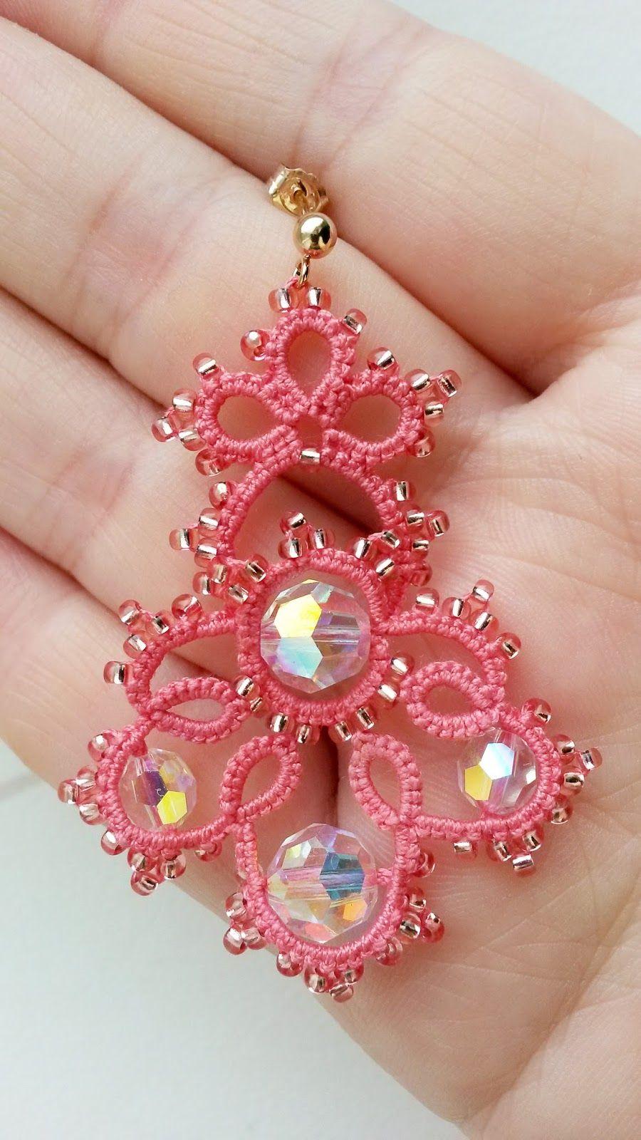 Frivolité à la navette: couleur corail | Crochet | Pinterest ...