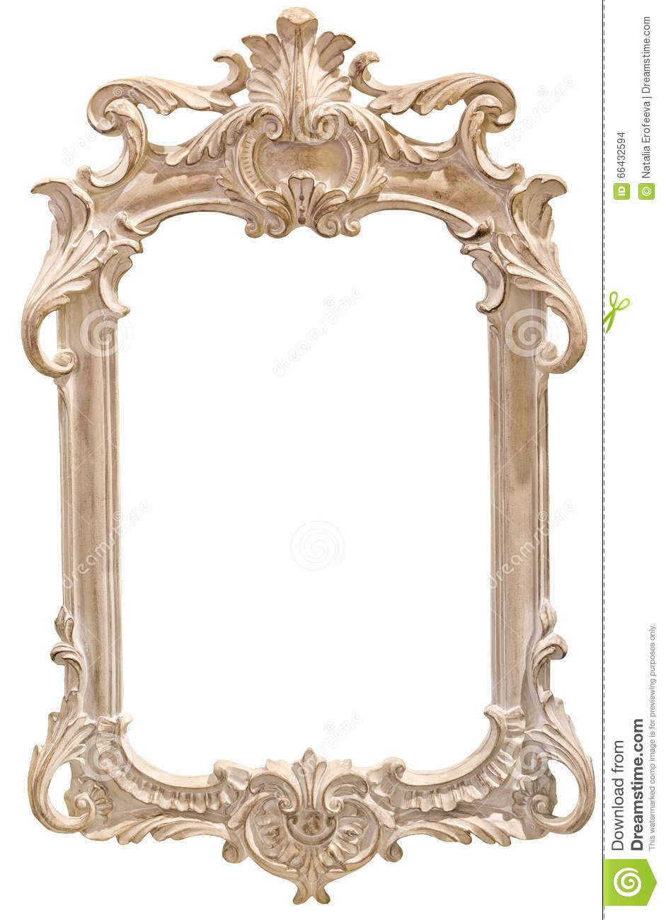 Classic Photo Frame On White Background Antique Frames Mirrored Picture Frames Frame