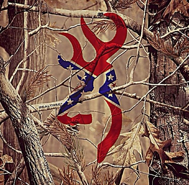 Camo Browning Symbol With Black Background