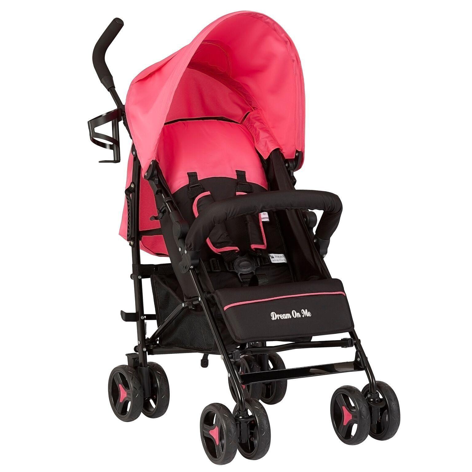 Pink Lightweight Fold Up Stroller Jasper Best