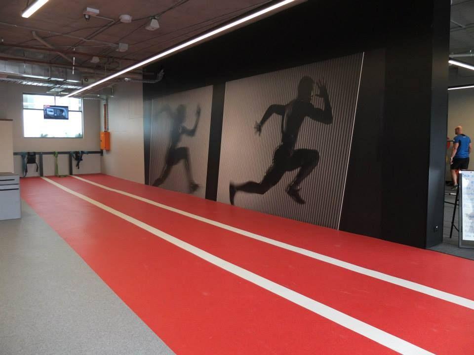 Decoflex indoor running sprint track @ fitness first maroubra