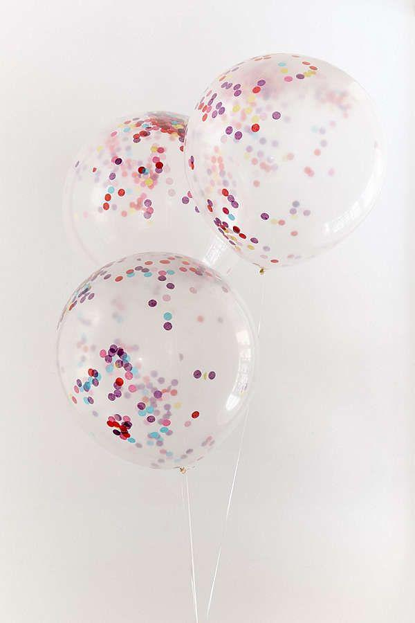 Ginger Ray Jumbo Rainbow Confetti Balloon Set Confetti balloons - confeti