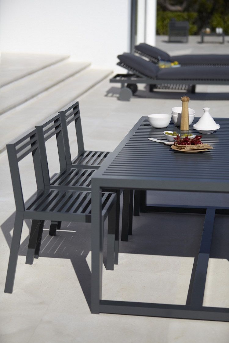 Table de jardin, d\'extérieur, design en aluminium GRANDE ...
