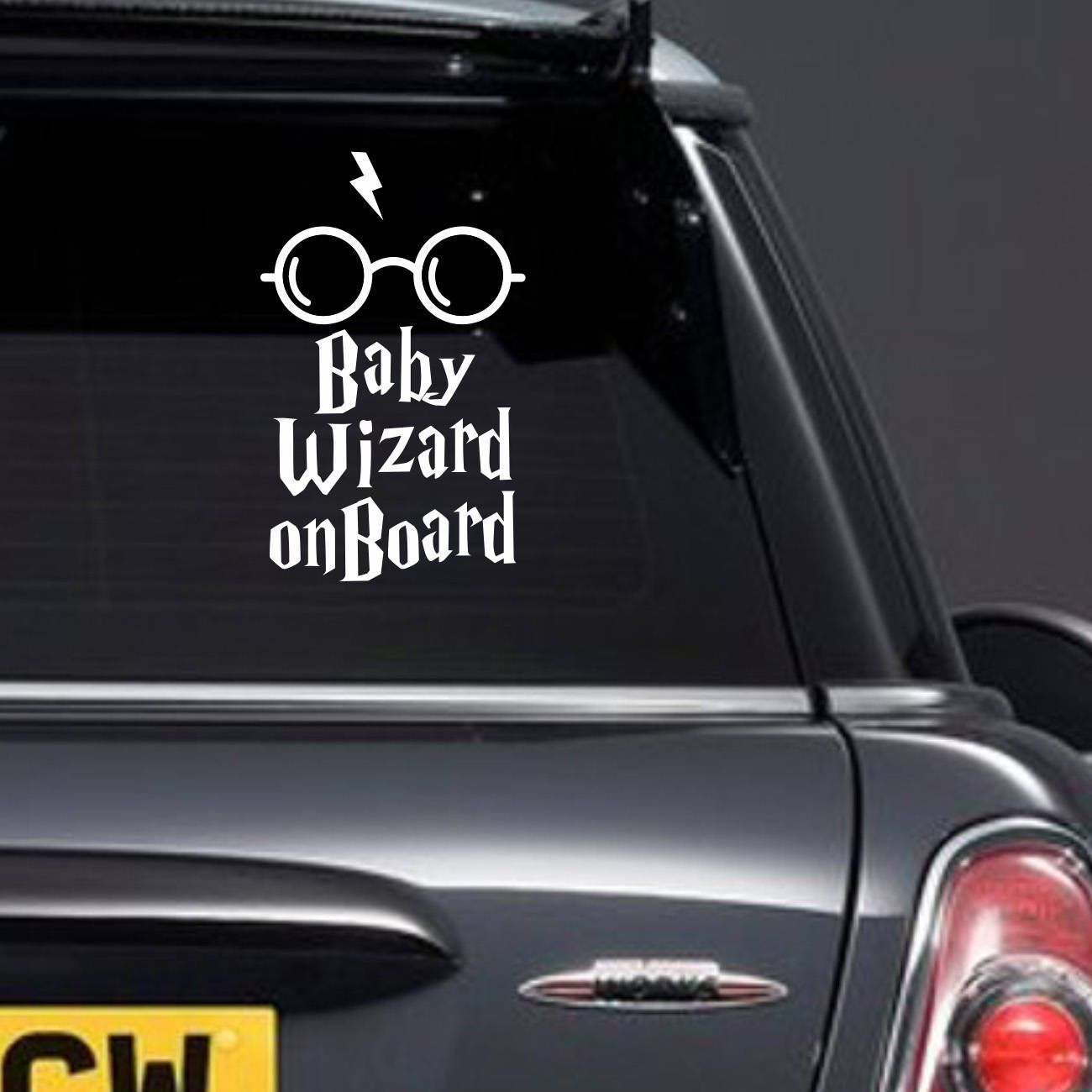 Baby Wizard On Board Car Sticker Car Window Decal New Baby Etsy New Baby Products Family Decals Harry Potter Decal [ 1300 x 1300 Pixel ]