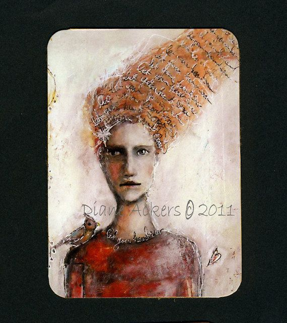 ACEO Artist Collector Card by DianeAckers on Etsy, $5.00