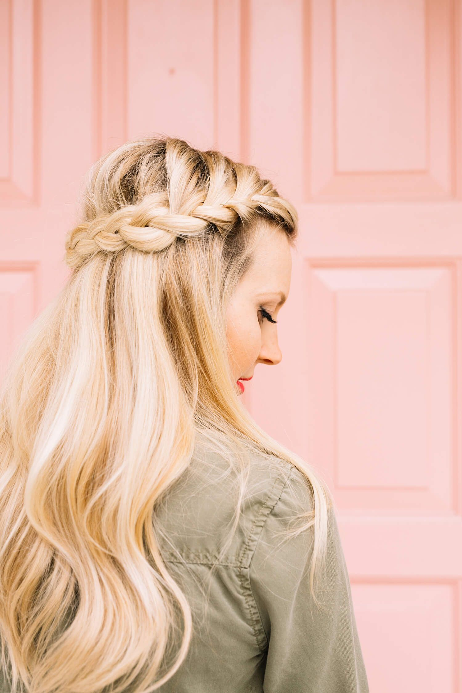French Braid Half-Crown – A Beautiful Mess | Hair Loveliness ...