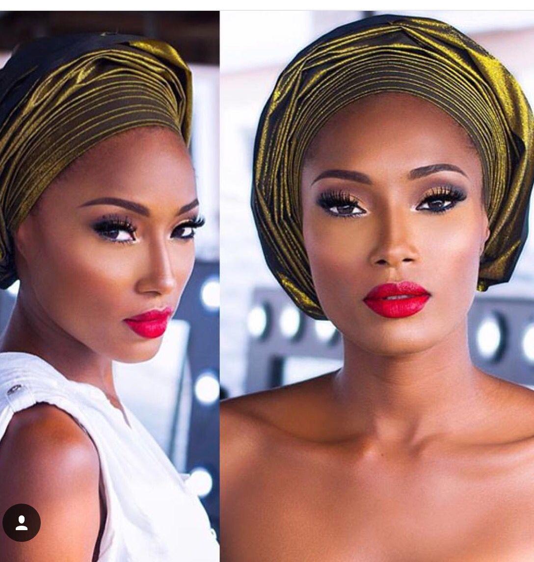 Makeup for black women Makeup for black women, Red