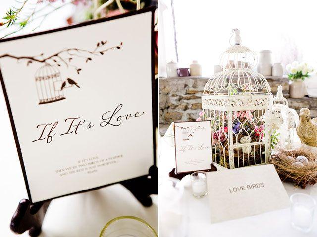 Modern Vintage Wedding Table Setting Idea