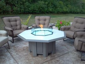 Our Octagon Fire Propane Fire Pit Fits People Around With Ease - Octagon propane fire pit table