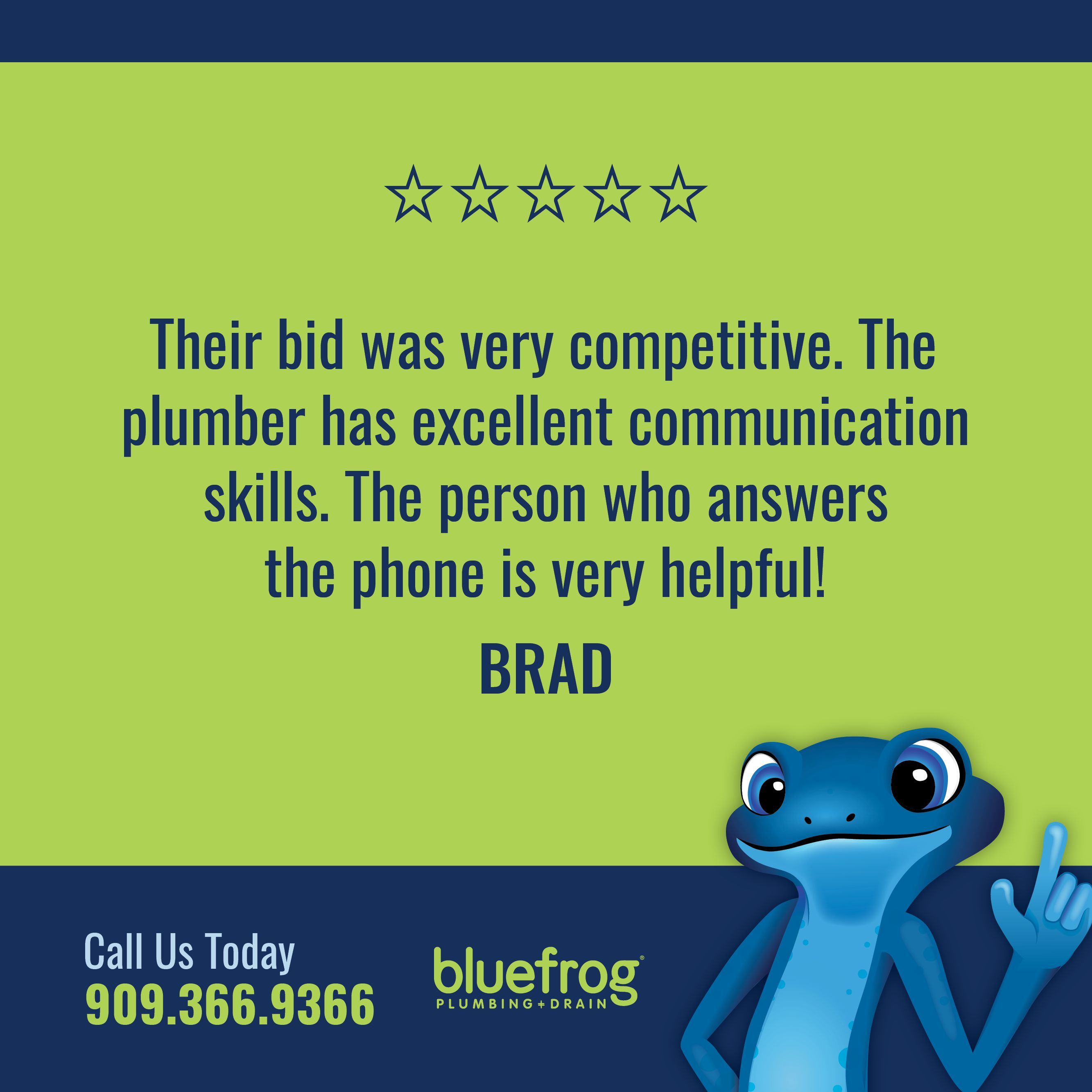 Thank You Brad For This Excellent Review Thank You For Choosing Us For All Your Plumbing Service And Repair Need Plumbing Emergency Plumbing Drains Plumbing