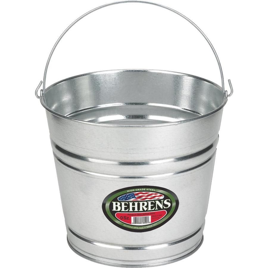 Behrens 12 Quart General Bucket Lowes Com Galvanized Sheet Galvanized Buckets Galvanized Steel