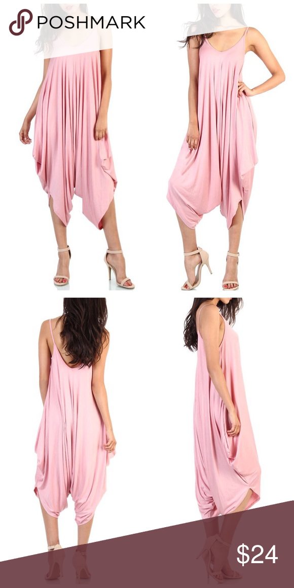 91cd0016ab Boho Blush Pink Harem Loose Drape Jumpsuit S M L Best Selling Jumpsuit!!  Beautiful! Blush