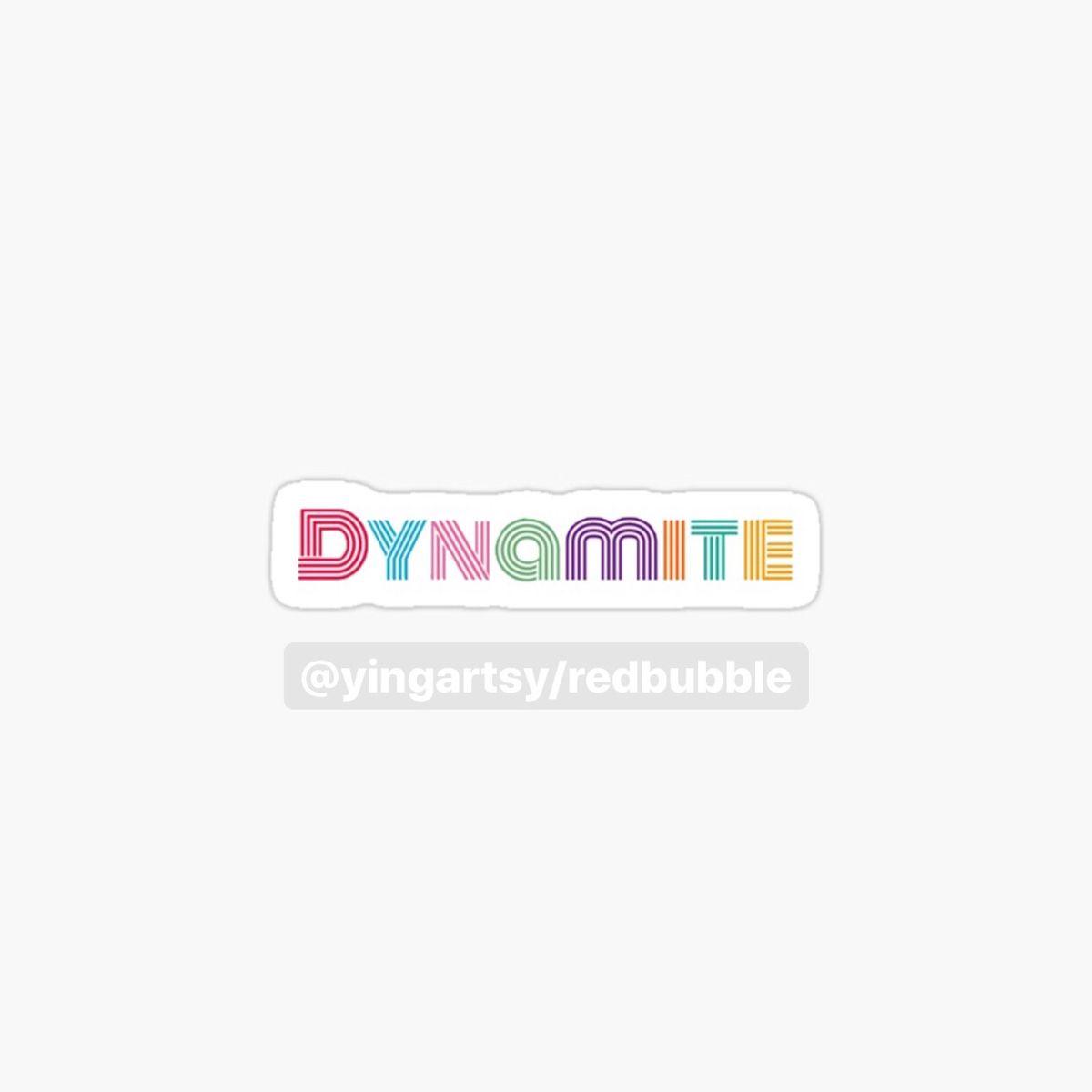 Bts Dynamite Sticker By Yingartsy In 2020 Pop Stickers Stickers Bts