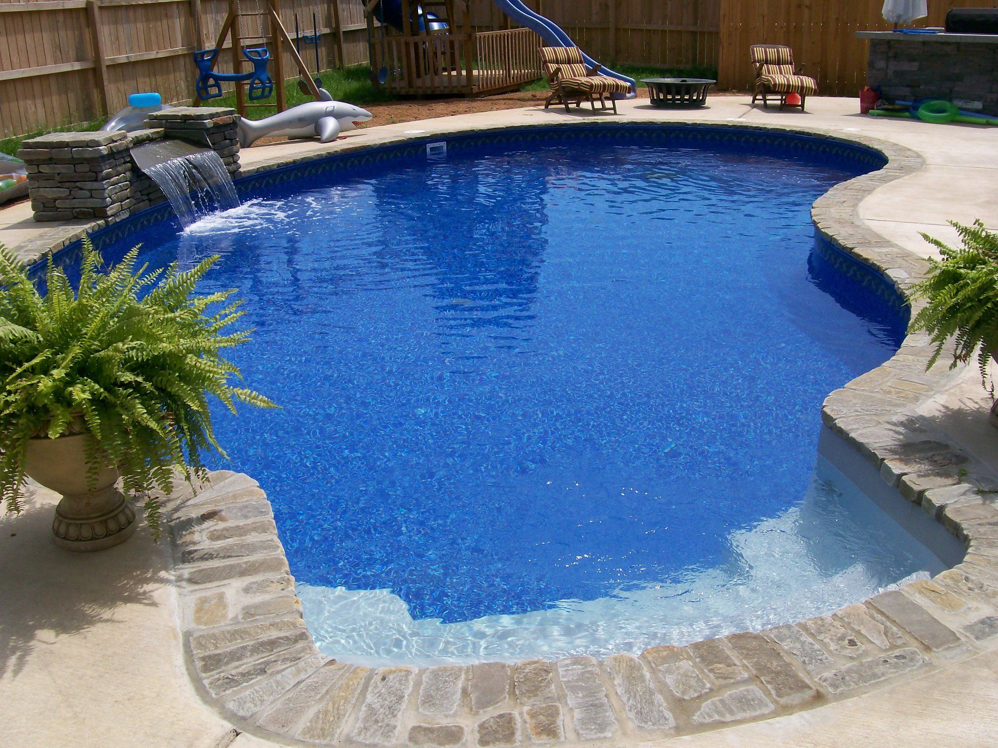 Pool built by anderson pools and spas murfreesboro tn 16 for Vinyl swimming pool