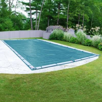Robelle Galaxy 12 Ft X 24 Ft Rectangular Teal Blue Winter Pool Cover 581224r Rob The Home Depot Winter Pool Covers Pool Cover Round Above Ground Pool