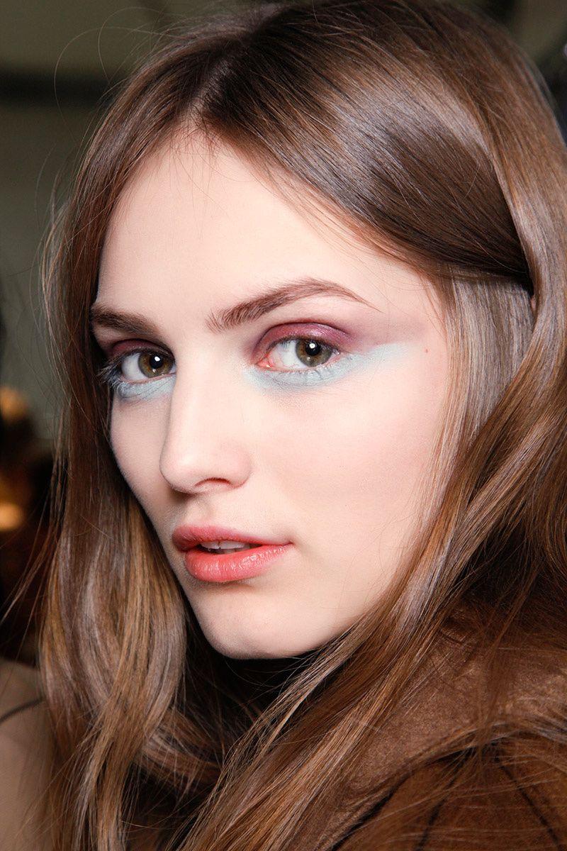 Light Golden Crown Hair Color with bold makeup. eSalon.com #haircolor #brown