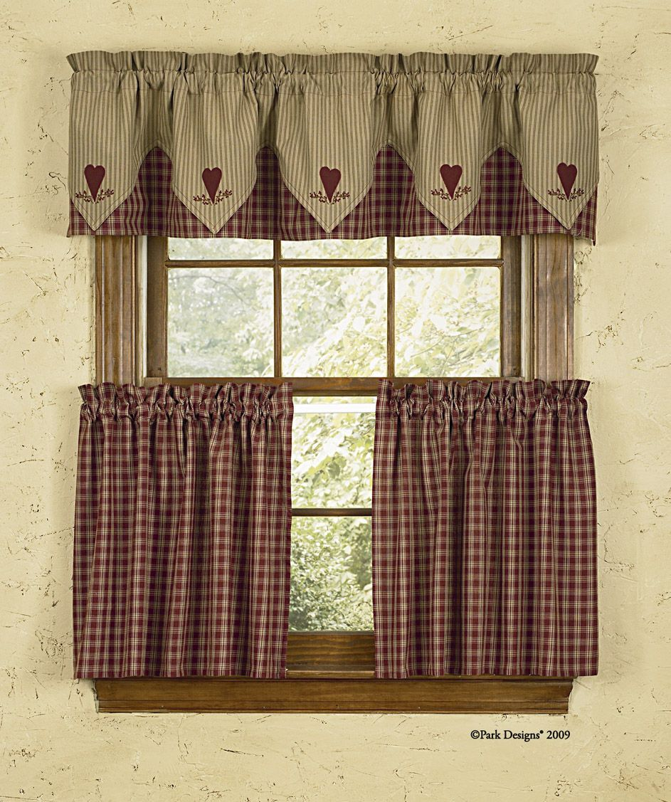 Kitchen Curtains Country Garden Style