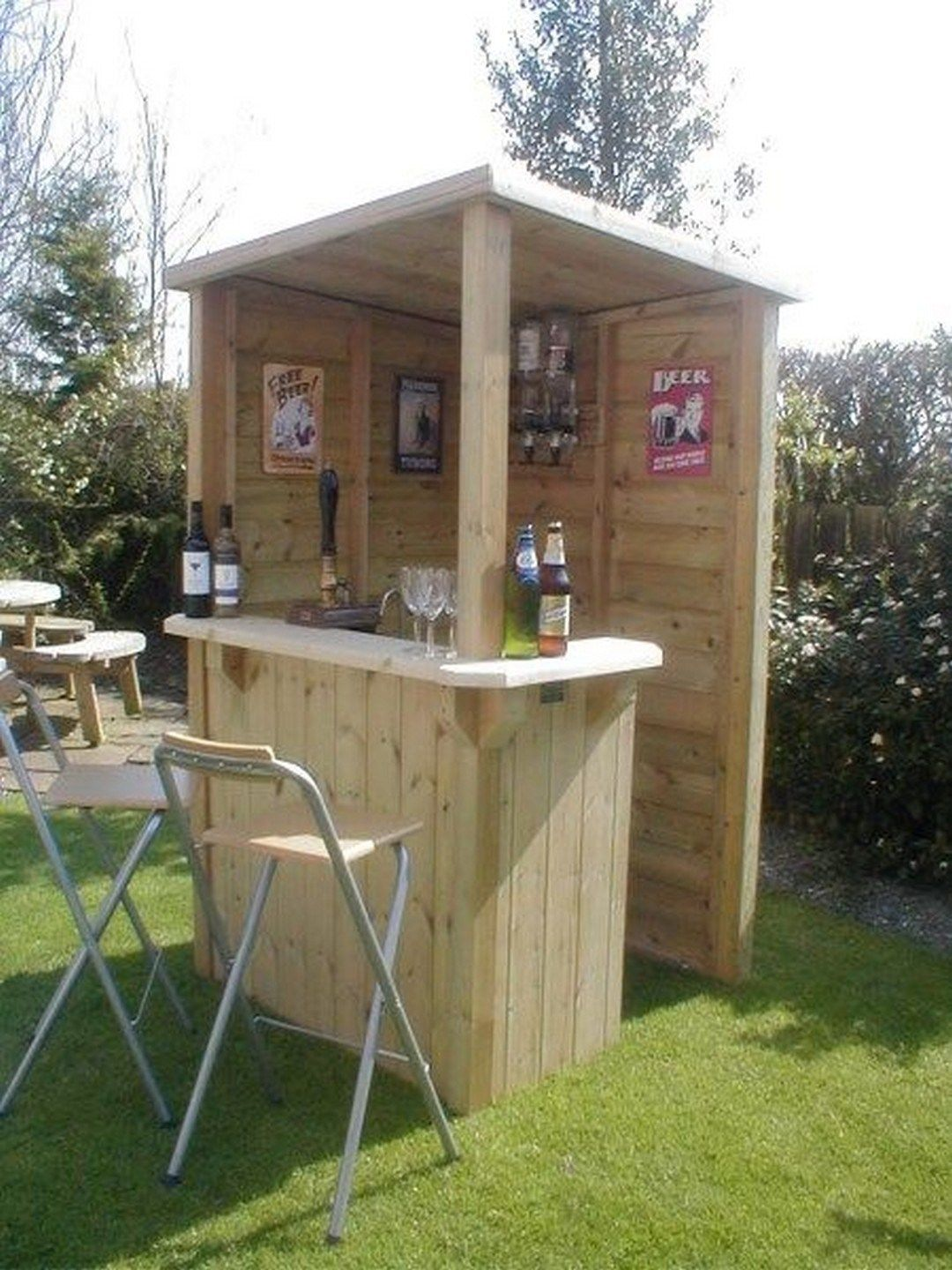 31 How To Diy A Light Up Outdoor Bar Using Pallets Diy Outdoor