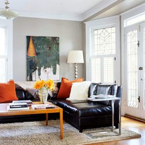 Pleasant Pillows Leather Sofa Bhg Com Contemporary Decorating Spiritservingveterans Wood Chair Design Ideas Spiritservingveteransorg