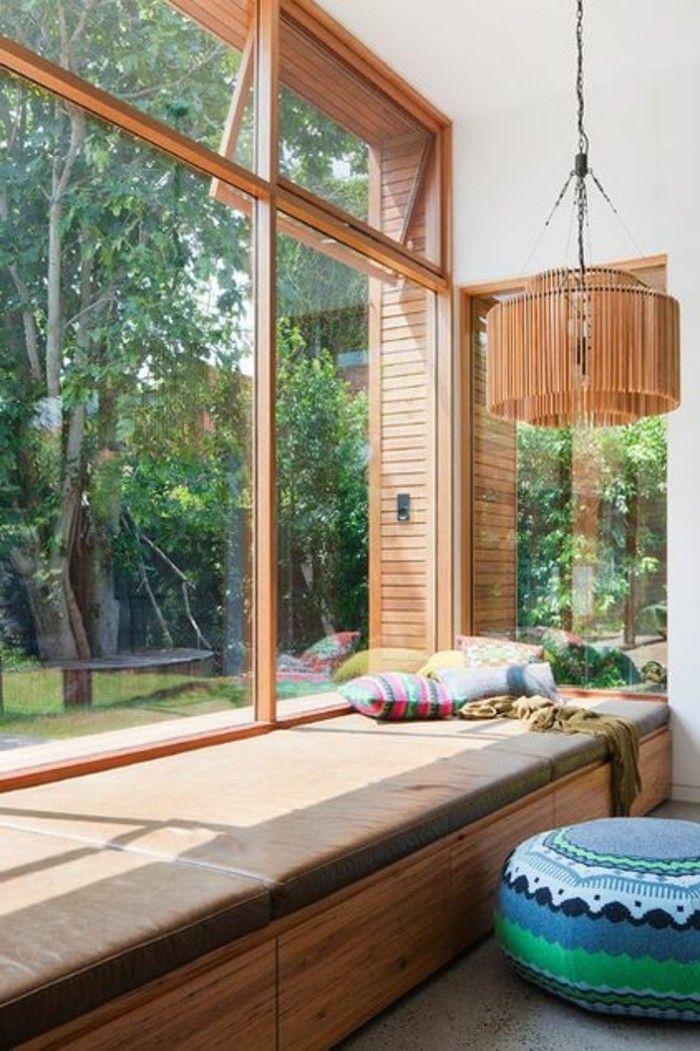 Sitzecke auf der Fensterban Holz ᔕᗯEET ᕼOᗰE Pinterest