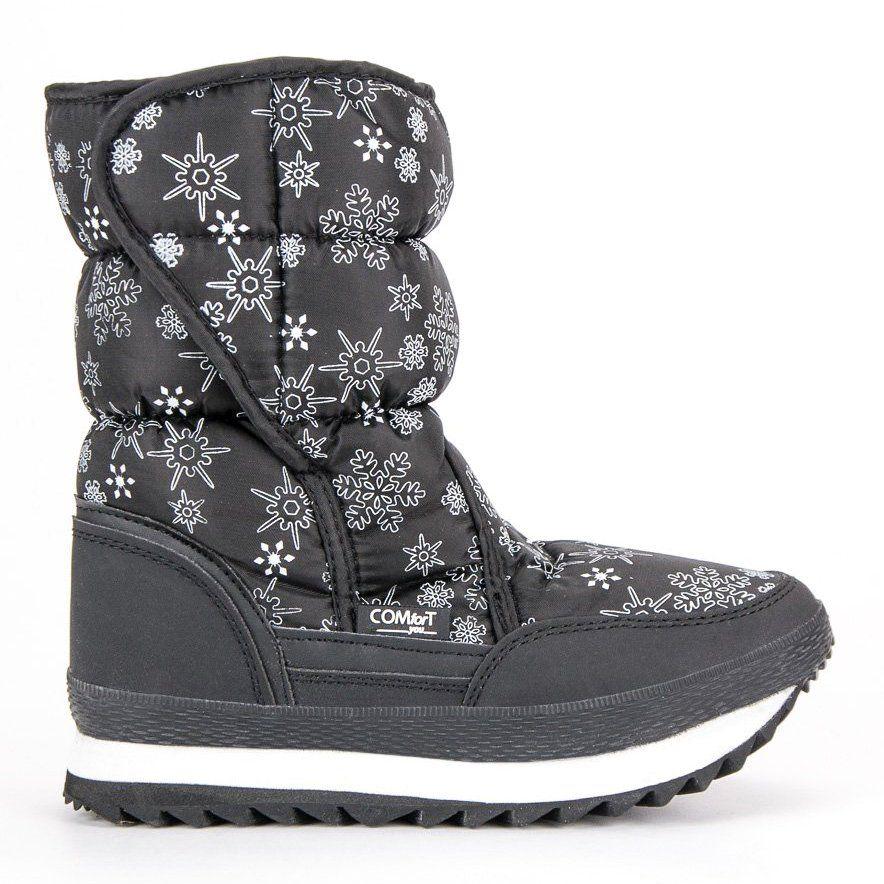 Cieple Zimowe Sniegowce Czarne Kozaki Buty Ugg I Buty