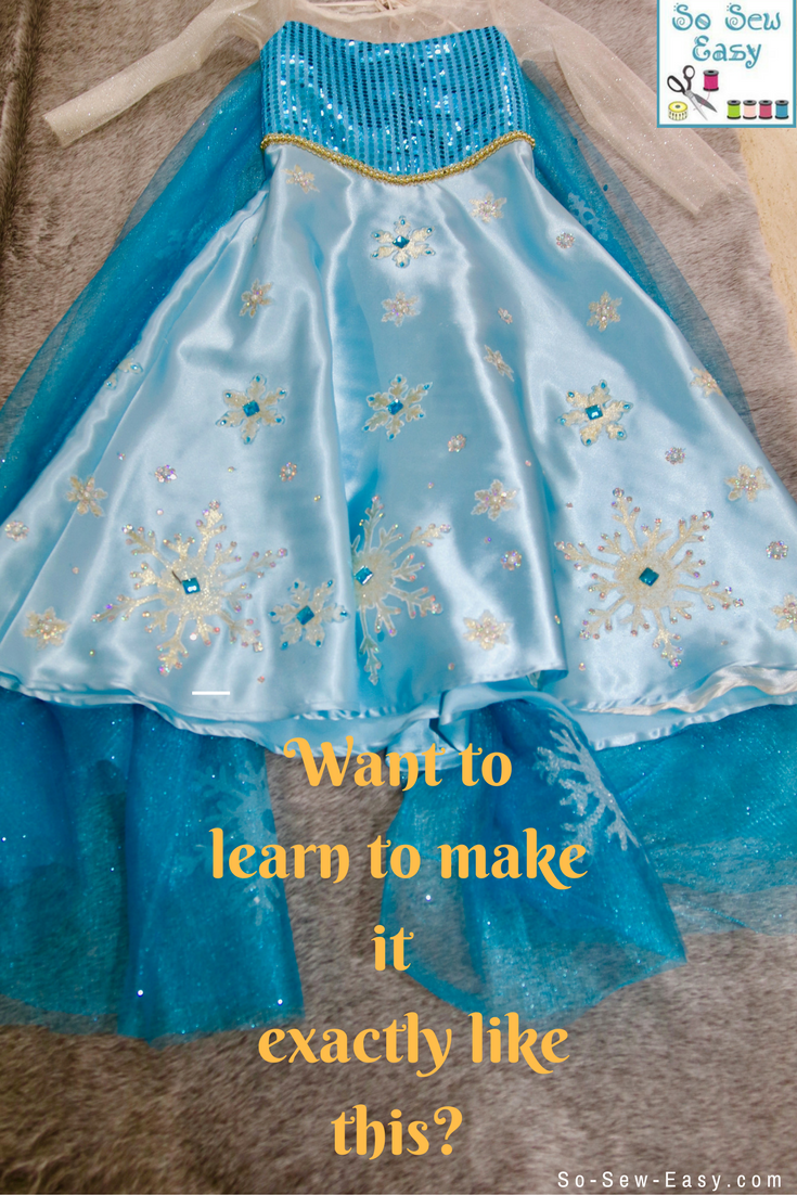 Learn to make this princess dress exactly as in the picture, free pattern and tutorial for girls 3-8.