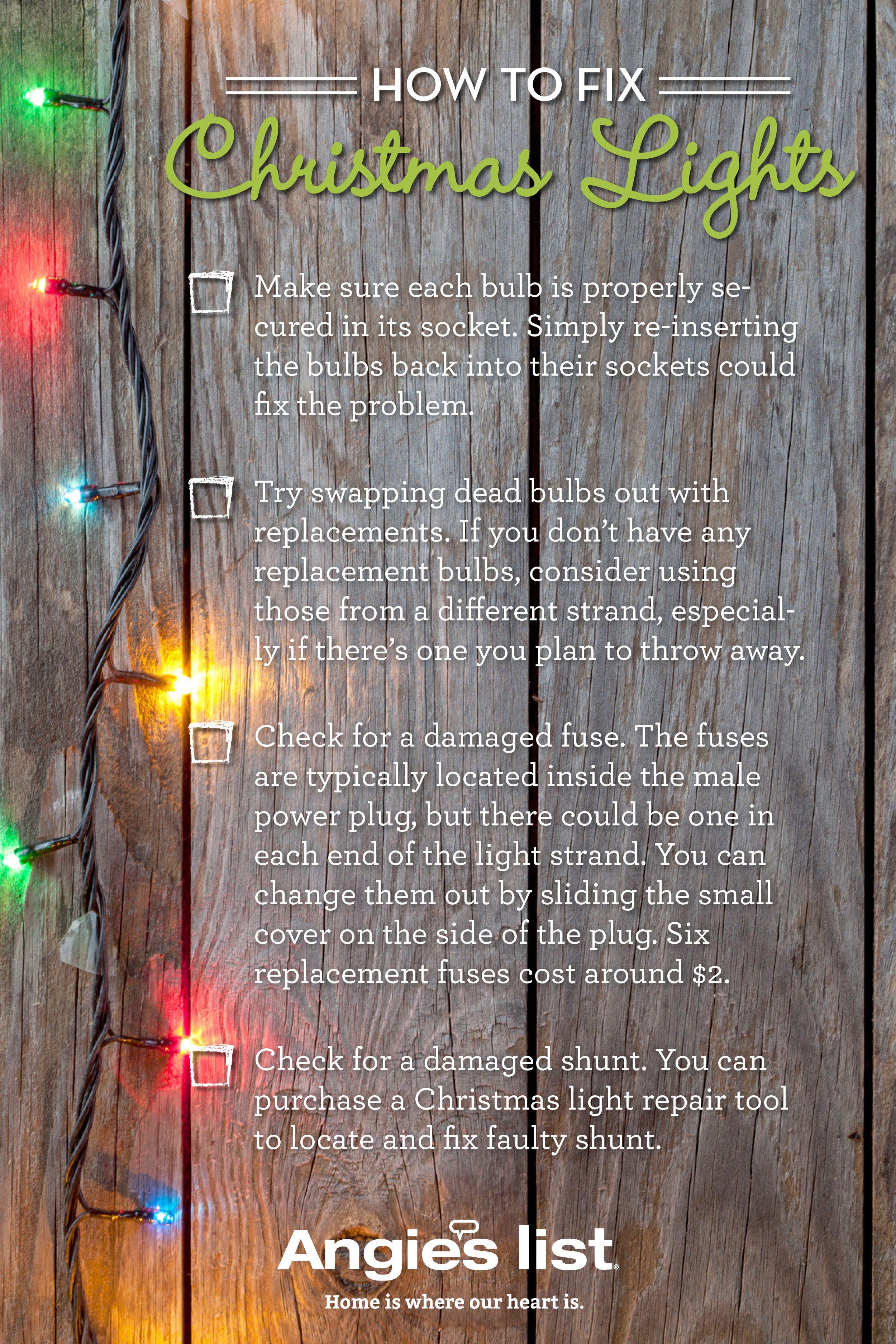 Fix Christmas Lights.How To Fix Christmas Lights Christmas Stuff Fix