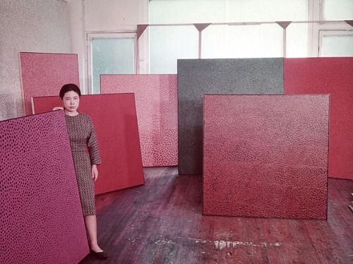 Yayoi Kusama in her New York studio, 1960.