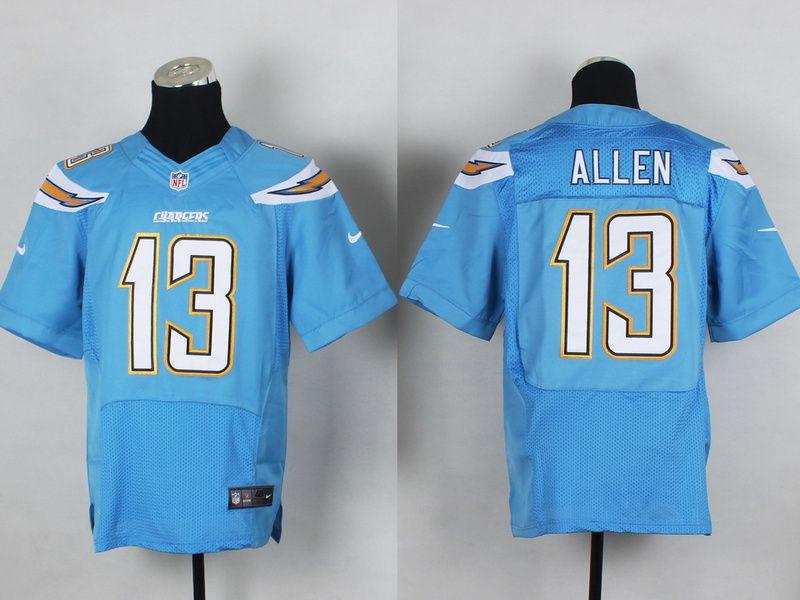 3e369fdbf Mens Nike NFL San Diego Chargers  13 Keenan Allen L-blue Elite Jerseys. Men Los  Angeles ...