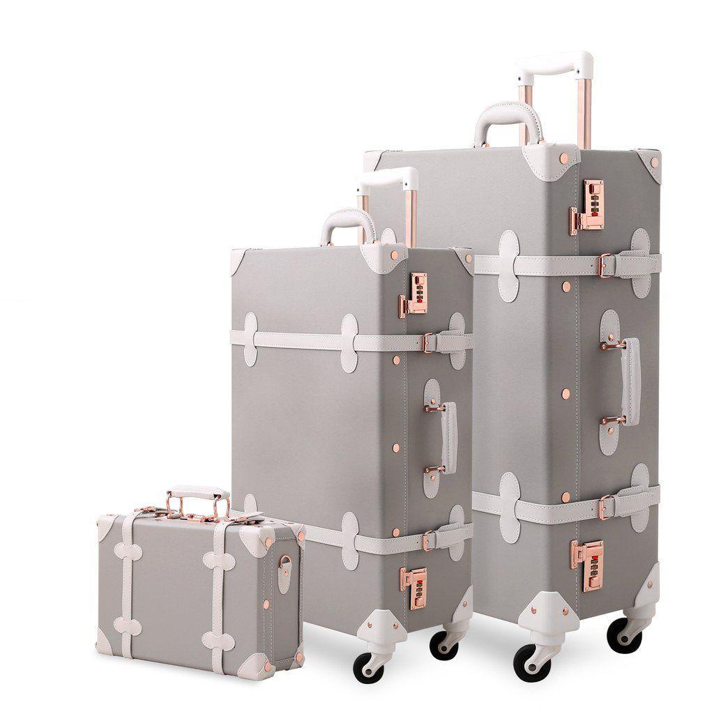 Vintage Trunk Luggage Lien Gray