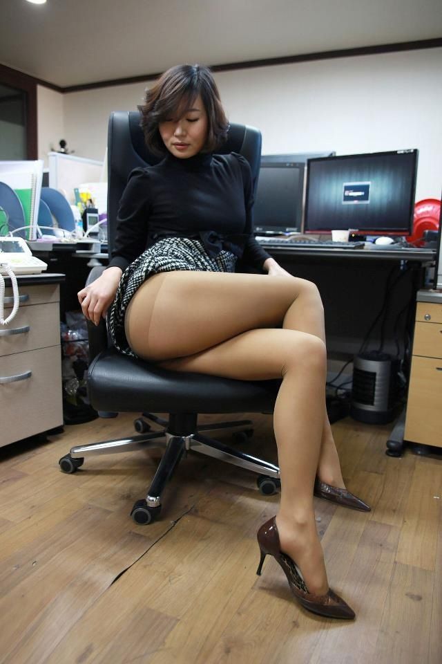 Office women in pantyhose
