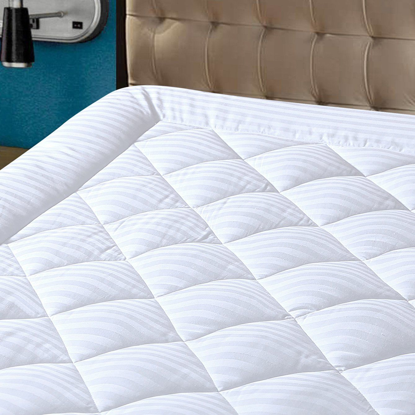 Hypnos Mattress Pad Cover Queen Size Pillowtop 300tc Down Alternative Topper With 8 21