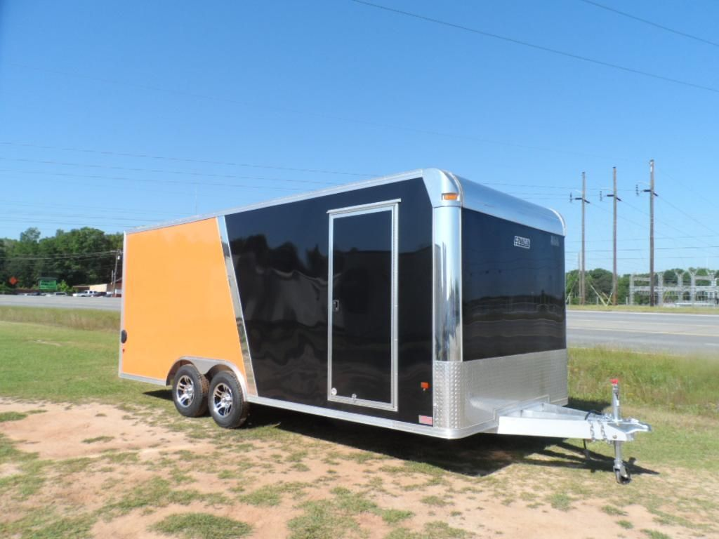 ALL ALUMINUM enclosed carhauler 2 tone by mission trailers