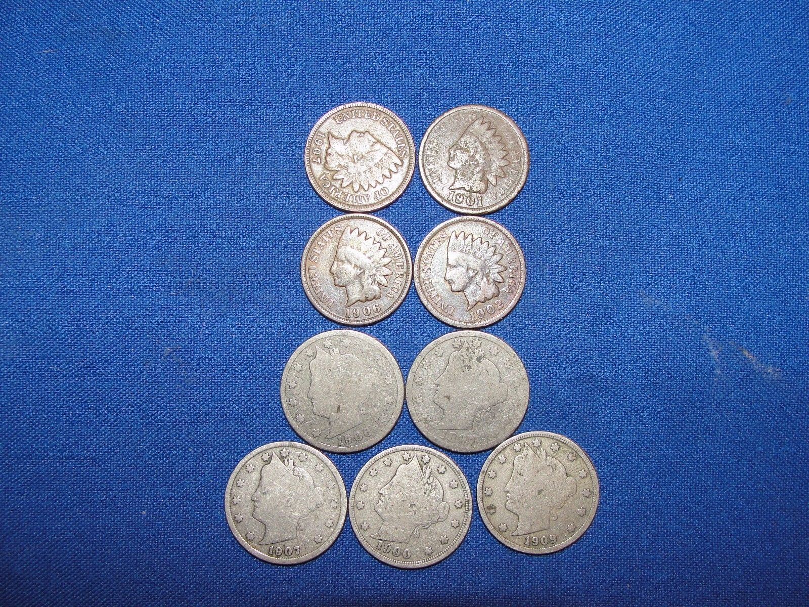 coins 9 us coins 5 v liberty head nickels 4 indian head