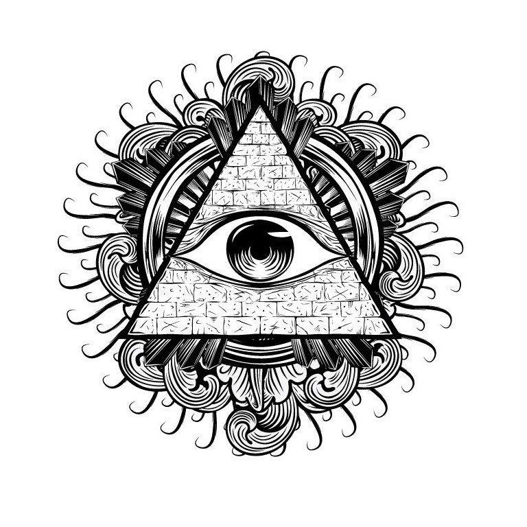 Всевидящее око | 5 фотографий | eye | Тату пирамида ...