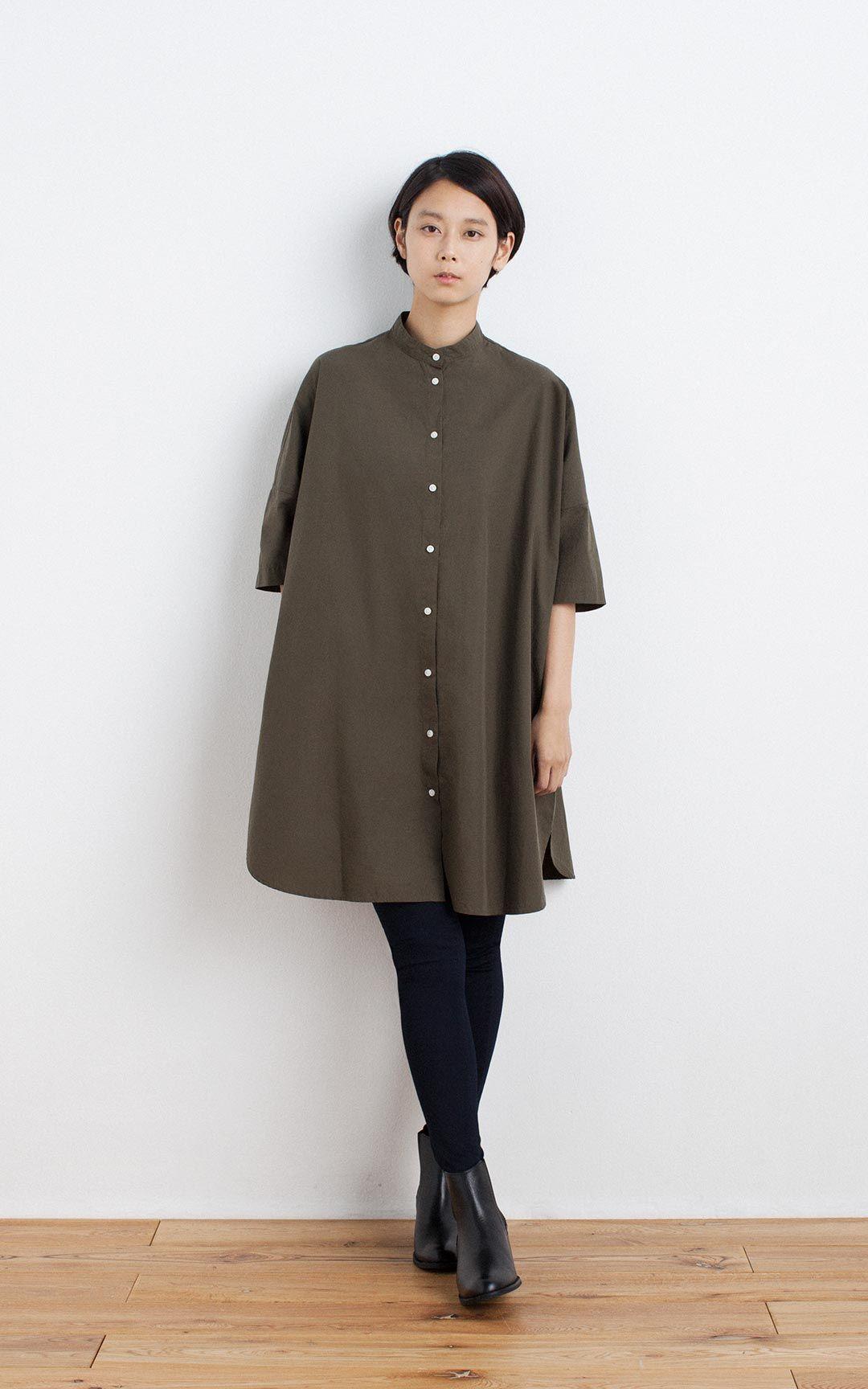 Womens Fashion Clothing: OGC WASHED 3/4 SLEEVE TUNIC