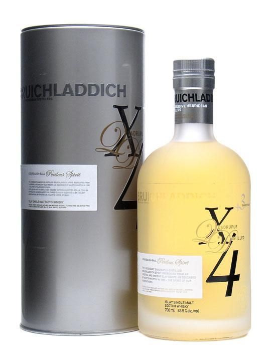 Bruichladdich X4 Quadrupled Whisky 92 Vol 184 Proof