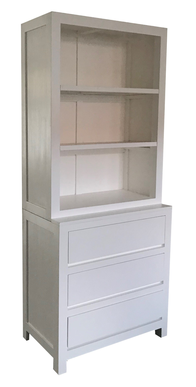 Boekenkast wit Dimolfetta 100cm. Strakke moderne witte boekenkast ...