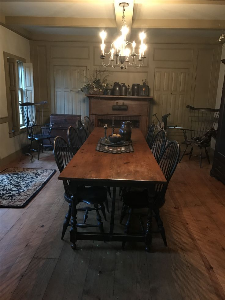 Accent Chairs For Living Room Home Decorating 32549 Clothinggers Colonial Dining Room Primitive Dining Rooms Dining Room Decor