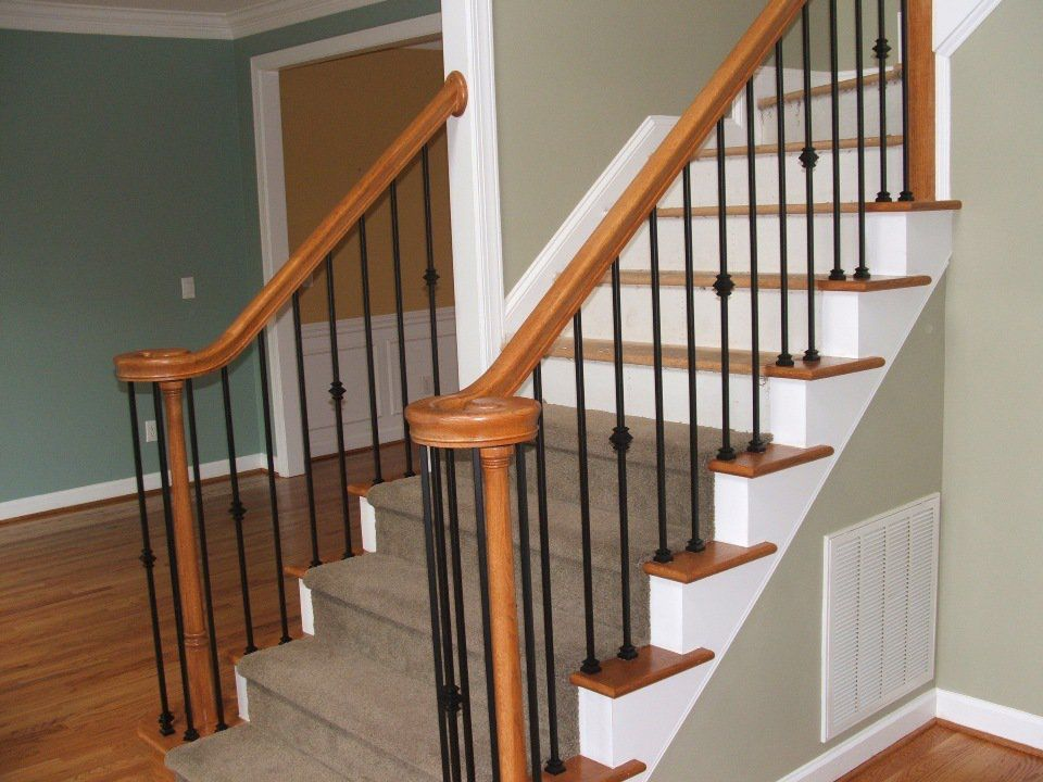 Best Pin By Ashley Dunn On Home Remodel Indoor Stair Railing 400 x 300