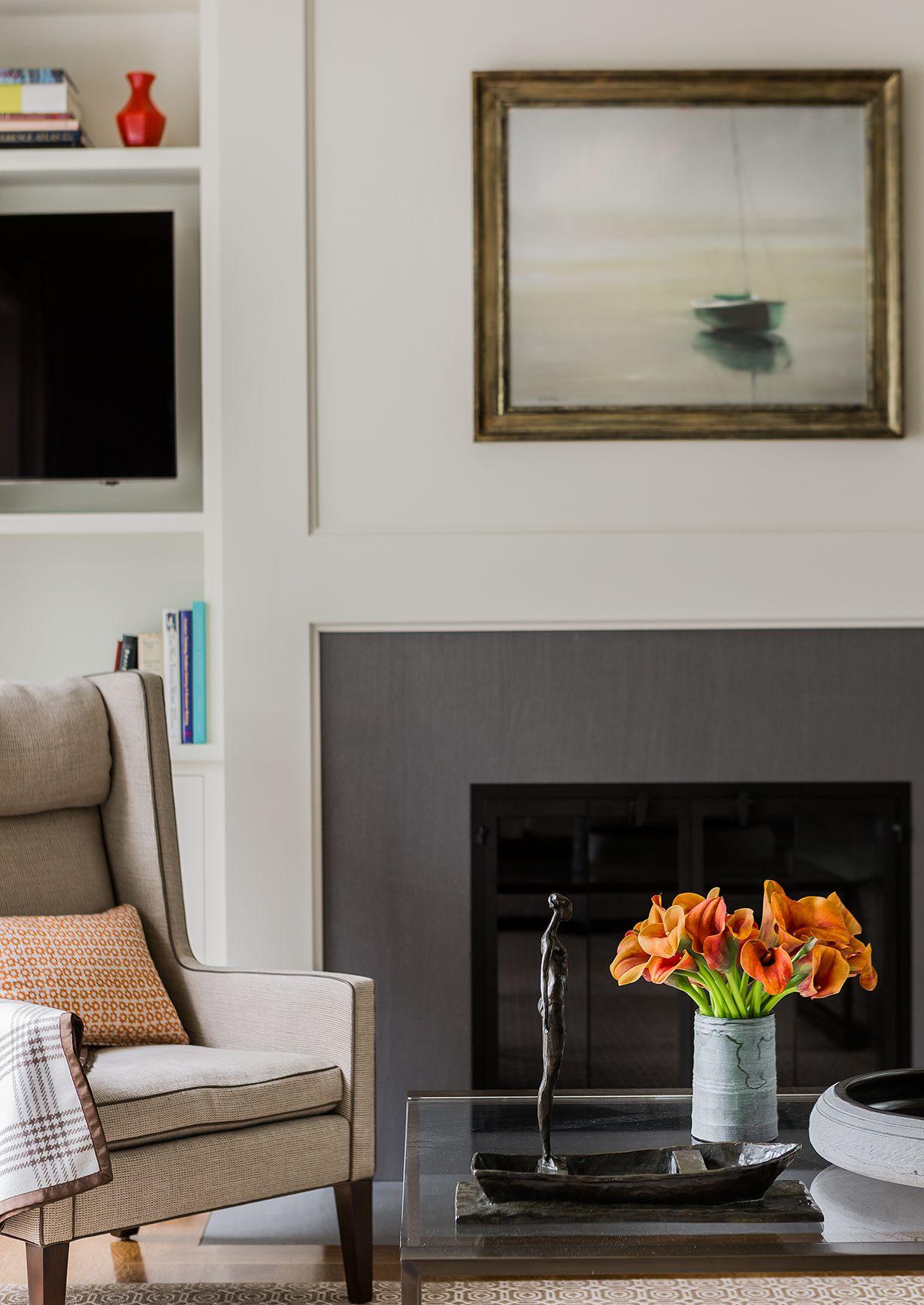 Interior Design Fireplace Living Room: Elms Interior Design