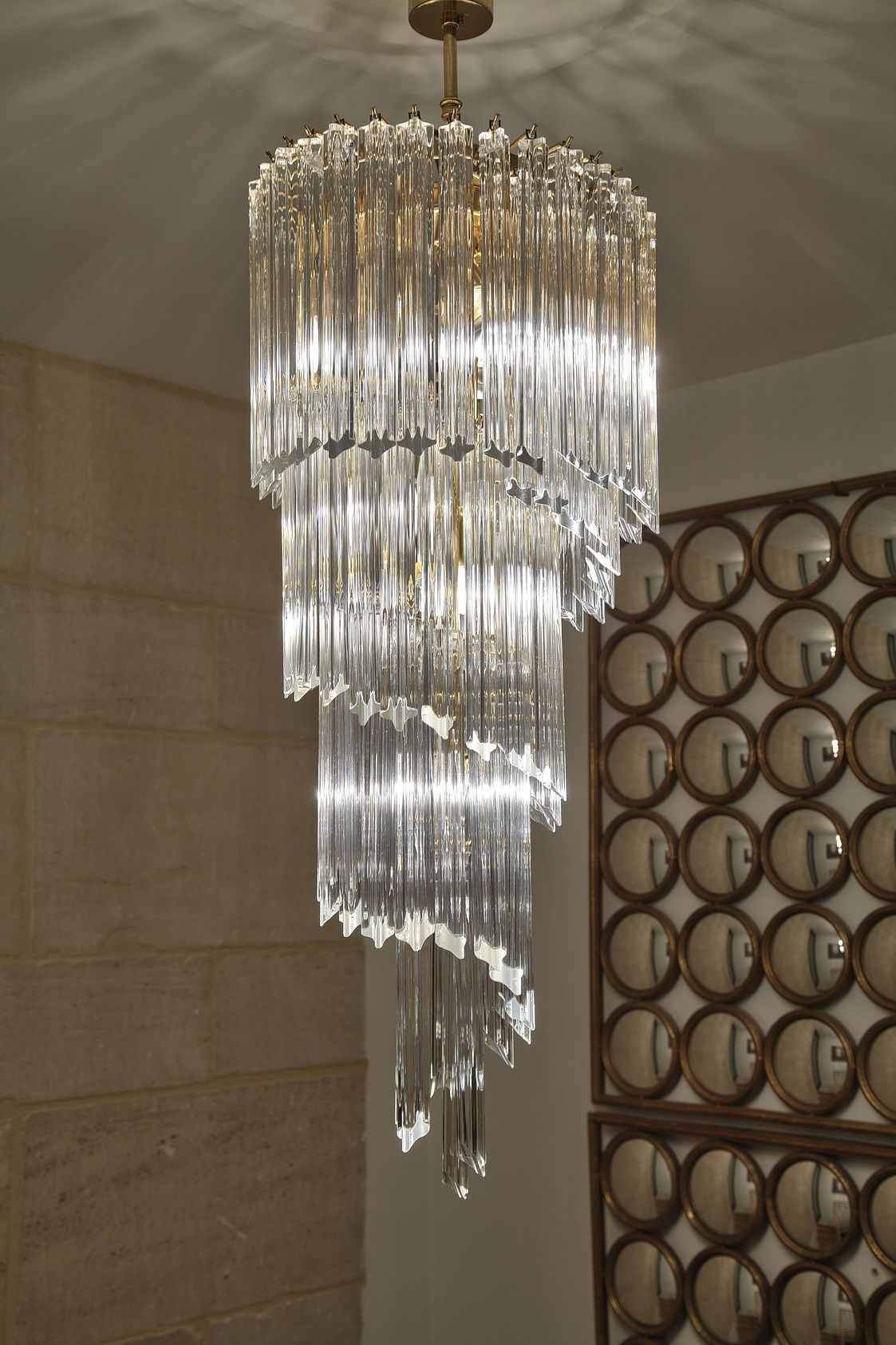 Tripod Lampstand Simulating Street Lamp Stand Crystal Chandelier