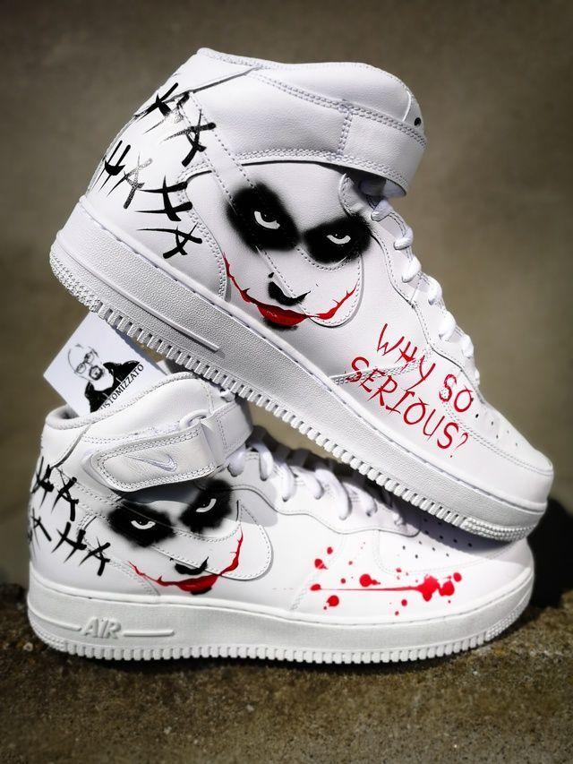 Custom Nike Air Force 1 MID ''Joker'' in 2020 | Nike shoes