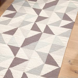 tapis descente de lit 100 coton motif triangles mysig - Tapis Descente De Lit