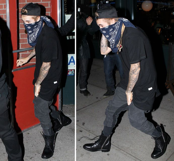 Justin Bieber Is A Sneaky Bandit In NYC