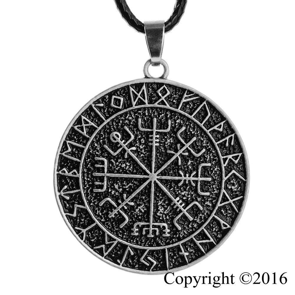 1 pcs Norse Viking Amuleto Pingente de Colar Vegvisir Norse RUNE Colar Pingente Colar de Jóias Originais