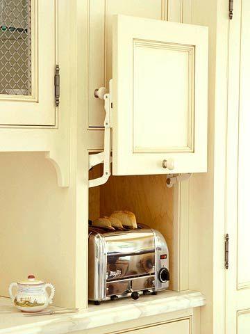 Kitchen Appliance Storage Ideas | Appliance garage, Work stations ...