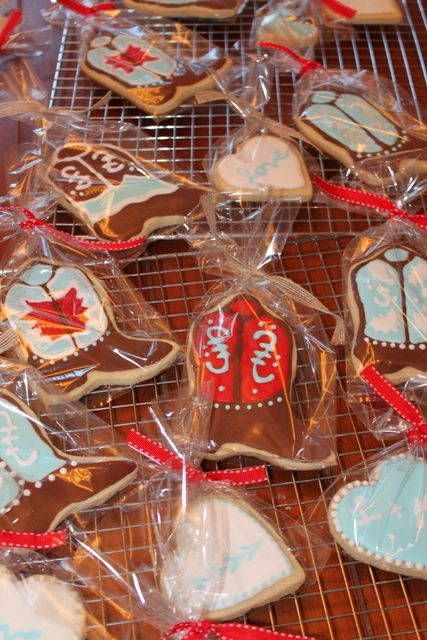 Cowboy wedding cookies for gift
